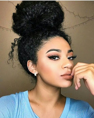 bun styles for curly hair black hair bun with bangs hairstyles hairstyles 1358
