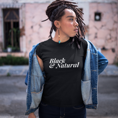Black & Natural women's t-shirt
