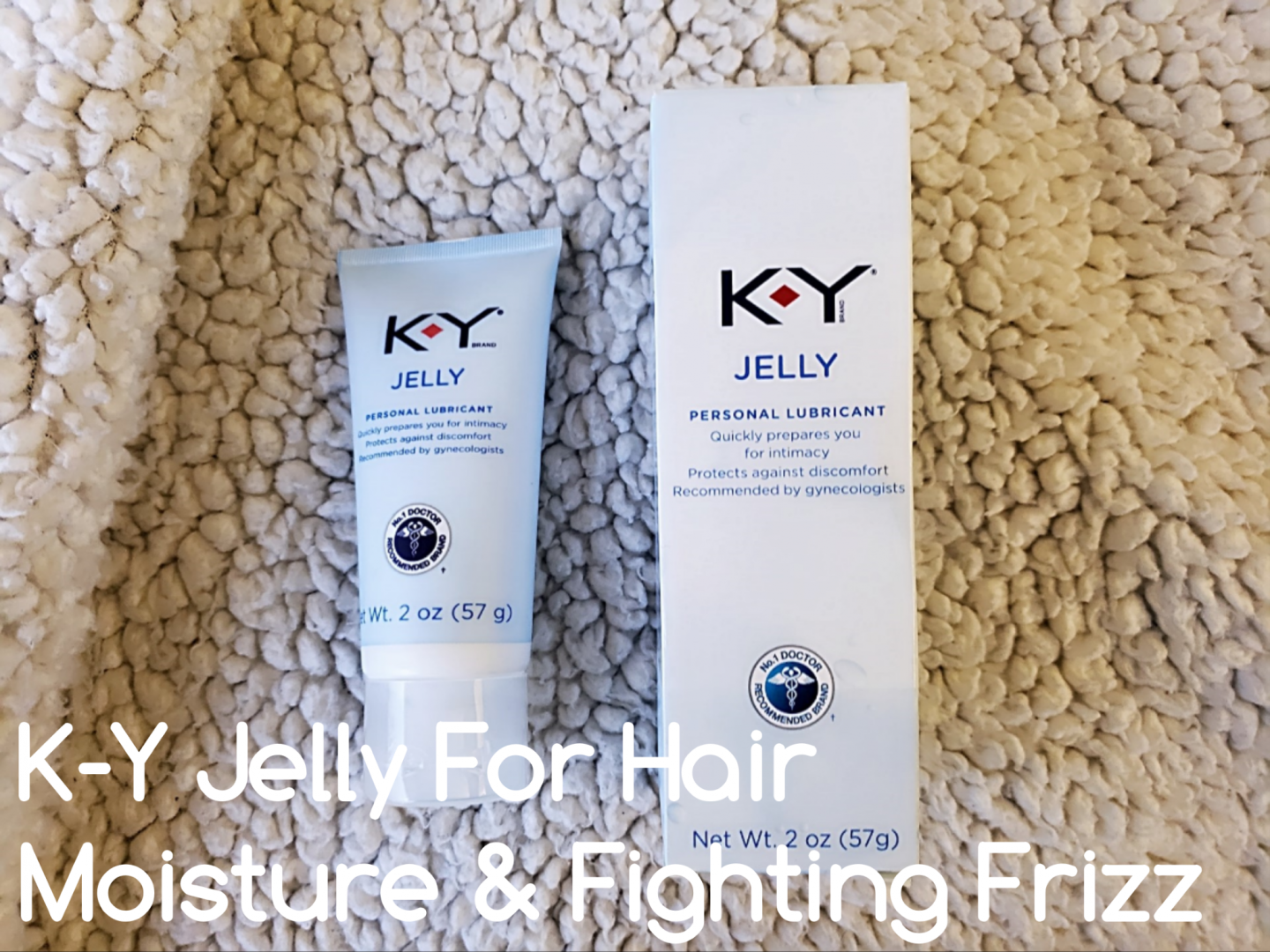 K-Y Jelly is being used for fighting frizz. ky jelly is a water-based, water-soluble personal lubricant for sex, but naturals are loving it for hair!